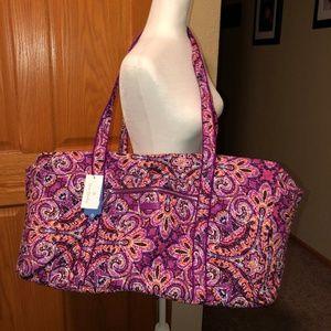 Vera Bradley Iconic Large Travel Duffle Bag NWT